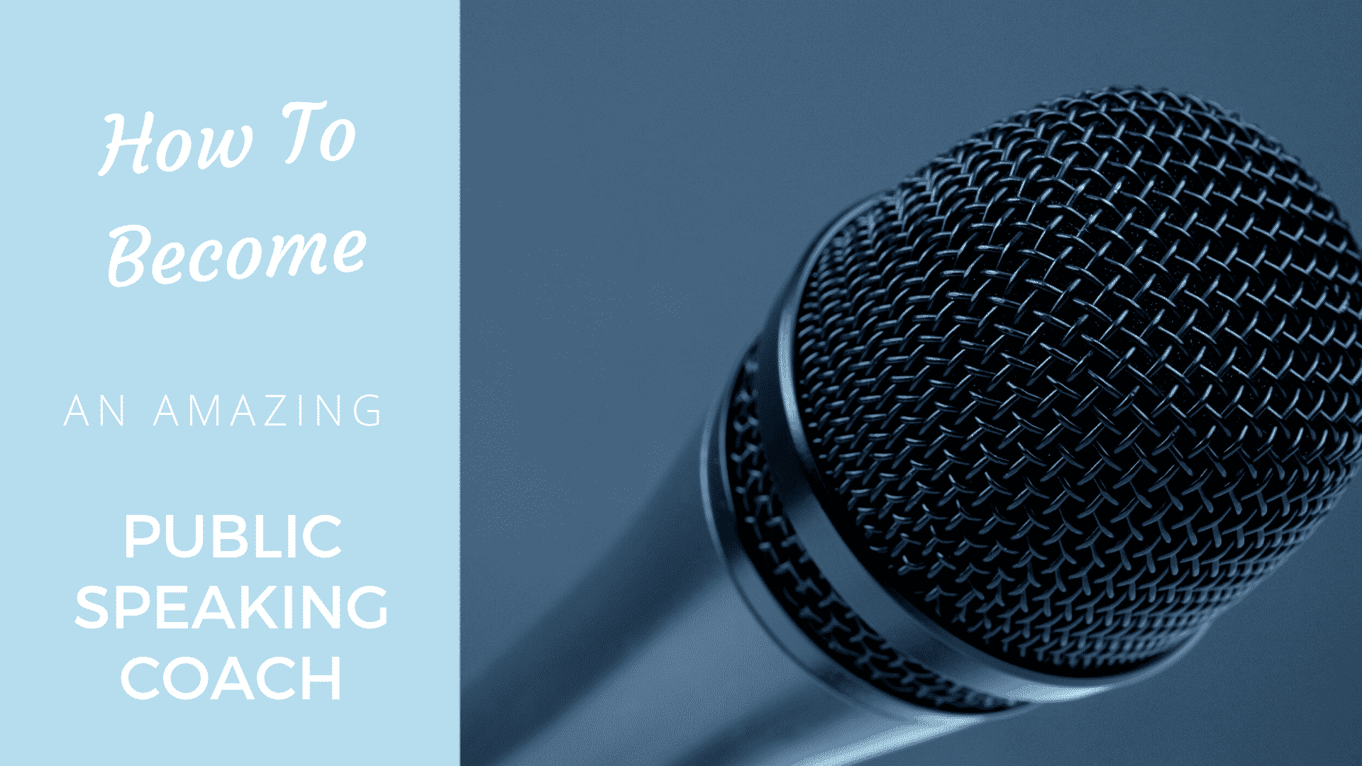 Become an Amazing Public Speaking Coach