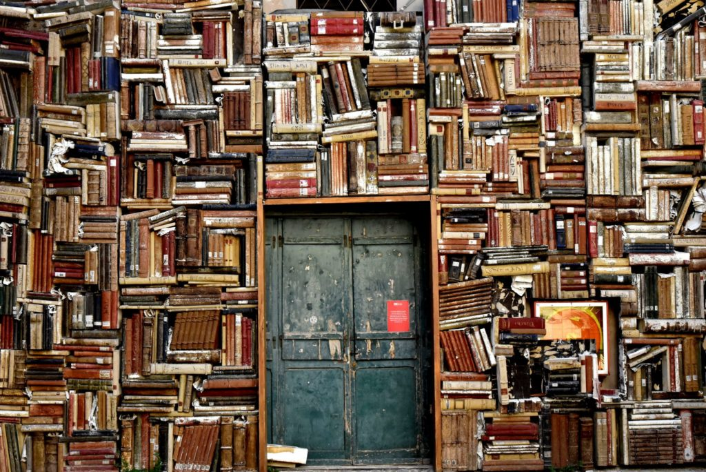 books, door, entrance