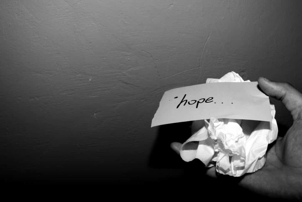 paper, crushed, hope