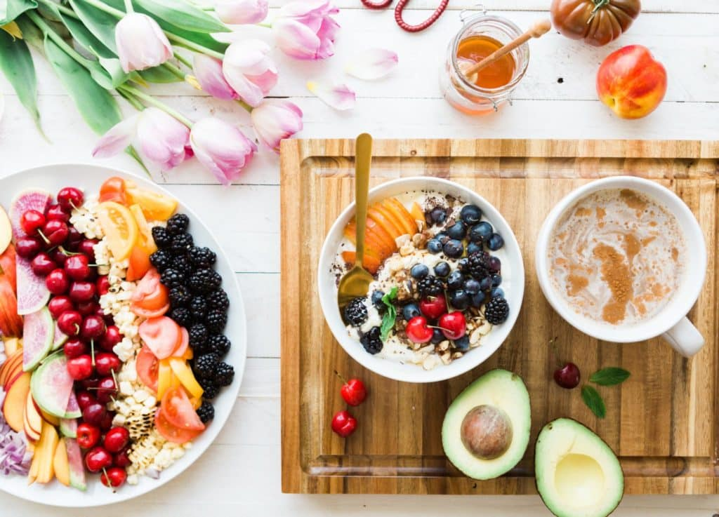 Put together all of my favorite eats on one plate. Because, as much as I adore the kids homemade pancakes, a bowl of fresh fruit is what I really want for Mother's Day.