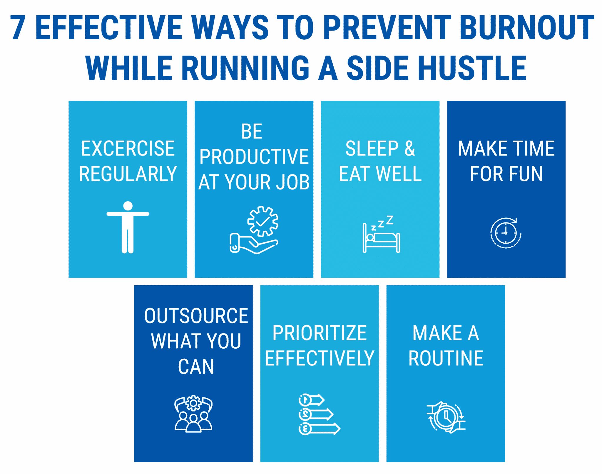 7 effective ways to prevent burnout while running a side hustle - starting a coaching business while working full-time