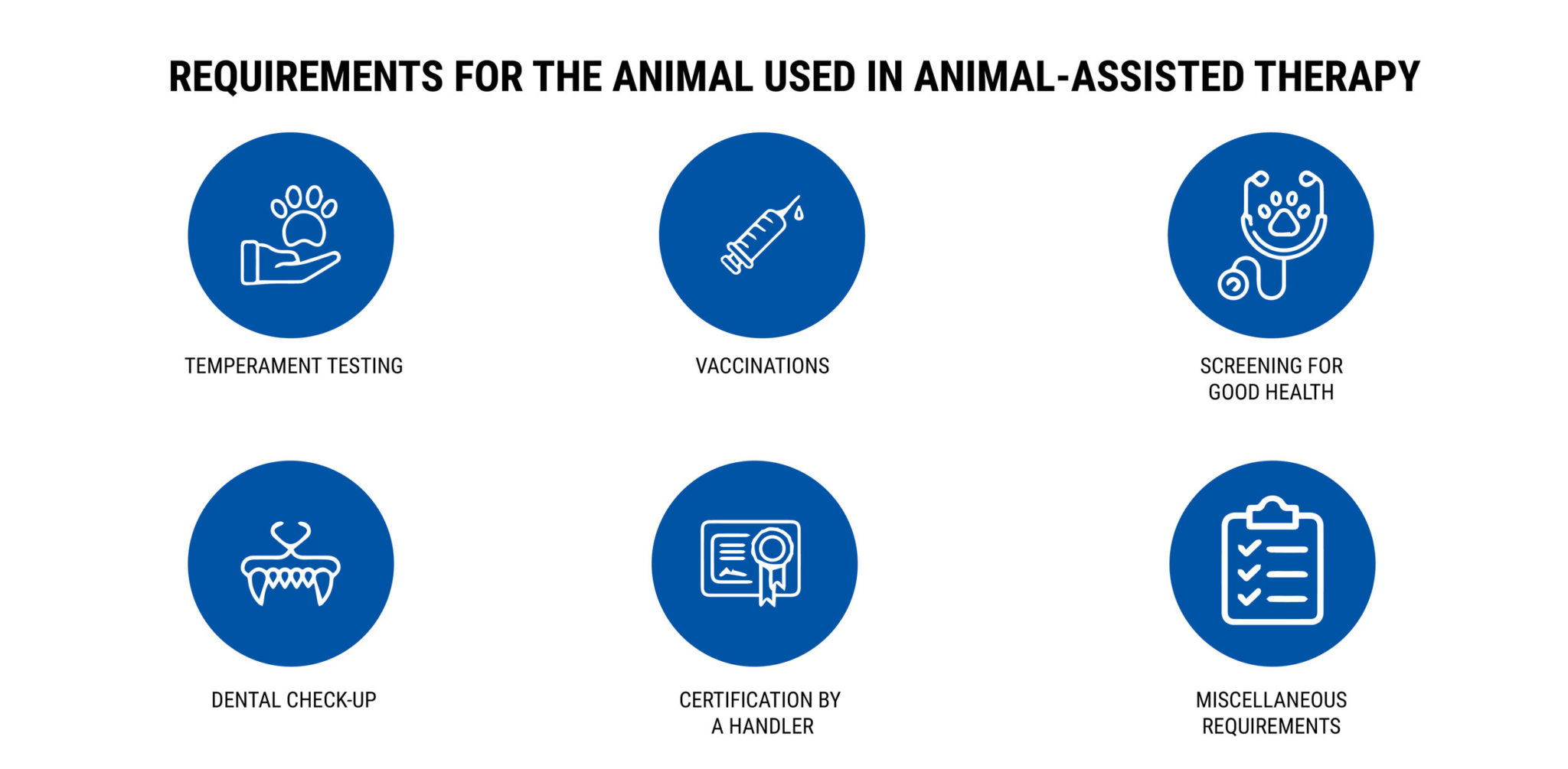 REQUIREMENTS FOR THE ANIMAL-ASSISTED THERAPY