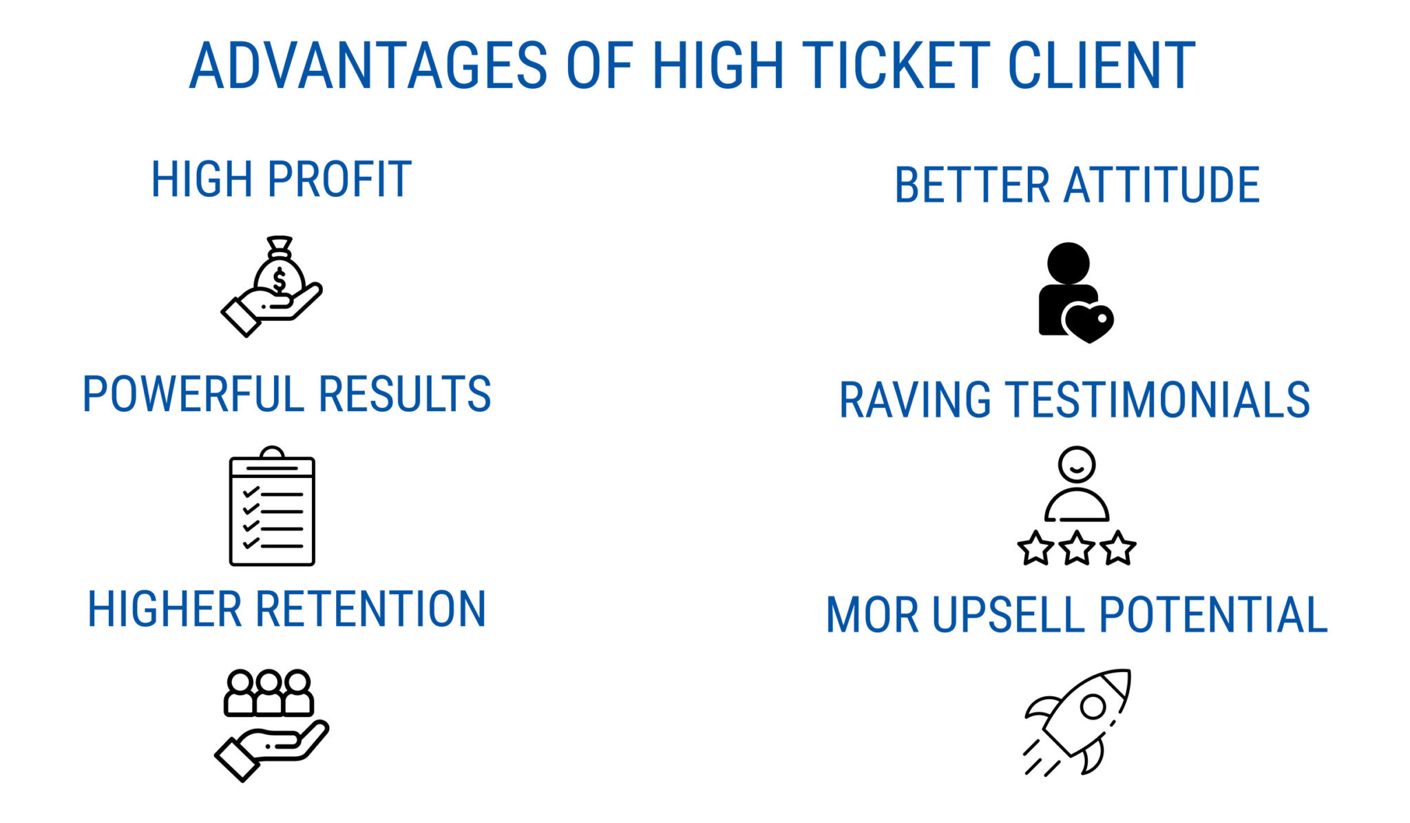 advantages of high ticket clients - start a successful online coaching business